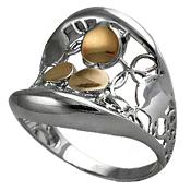 anillo de oro bicolor aurea
