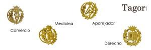 insignias profesionales de oro Tagor