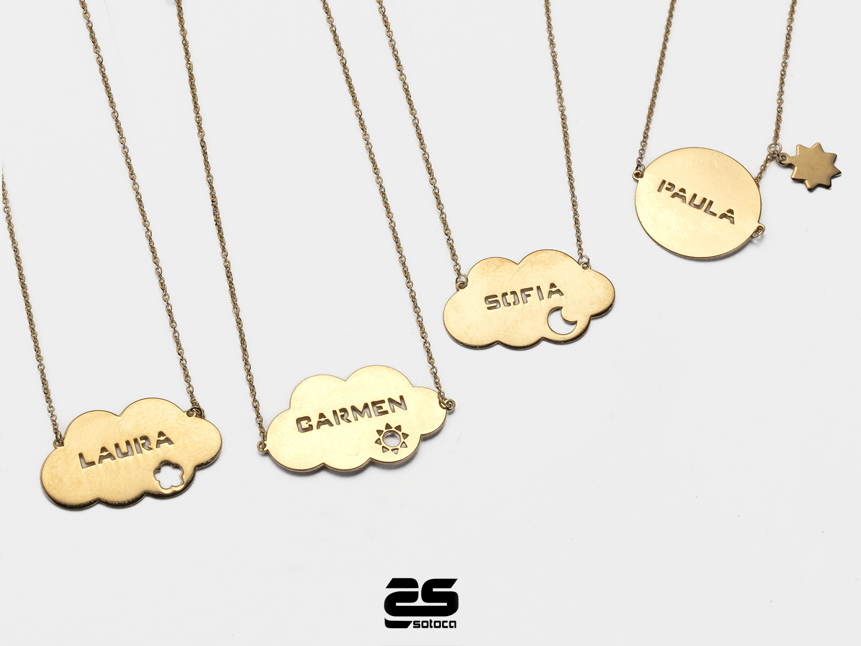 Gargantillas de oro con tu nombre personalizado